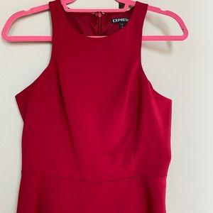 Express sleeveless red peplum top